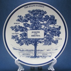 Personalized Family Tree Plate