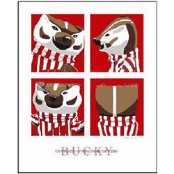 Bucky Badger Print