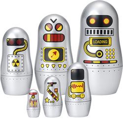 Robot Matryoshkas Nesting Dolls