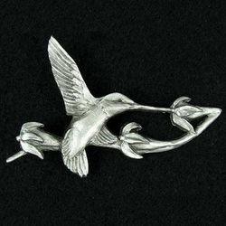Pewter Hummingbird Pin