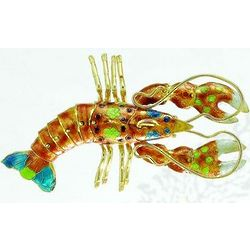 Articulated Cloisonne Lobster Ornament