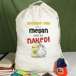 Personalized Naked Soon Laundry Bag