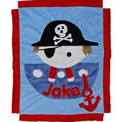 Personalized Pirate Blanket