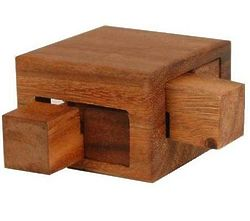 Tricky Drawers Box Wooden Brain Teaser Puzzle