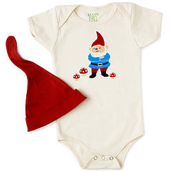Gnome Babysuit and Hat