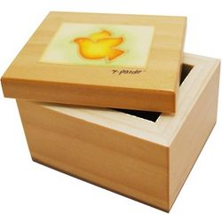 Wooden Confirmation Keepsake Box with Handpainted Dove