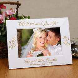 Engraved Mr. and Mrs. Wedding Frame