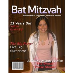 Bat Mitzvah Personalized Magazine Cover