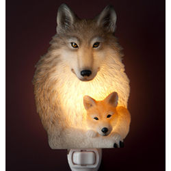 Wolf and Pup Night Light