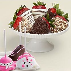 Mother's Day Cake Pops and Chocolate-Covered Strawberries