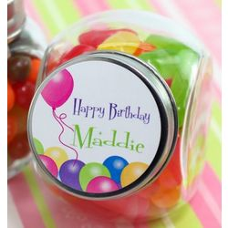 Personalized Birthday Mini Candy Jar Favors
