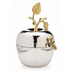 Climbing Leaf Rosh Hashanah Honey Apple Jar with Spoon