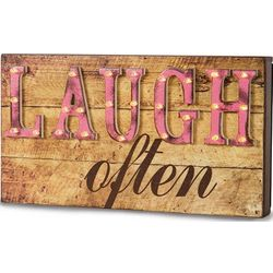 Laugh Often Light-Up Marquee Message Sign