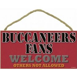 Tampa Bay Buccaneers Fans Wood Welcome Sign