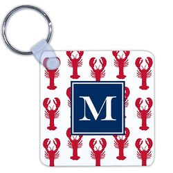 Personalized Lobsters Red Key Chain
