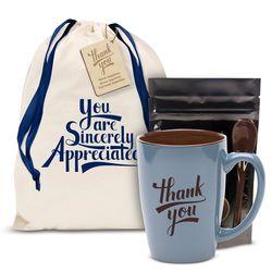 Thank You Blue Bistro Mug Gift Set