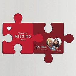 Personalized You're My Missing Piece Wall Puzzle with Photo