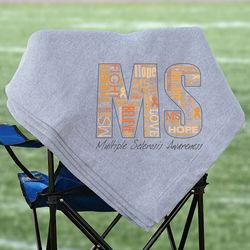 Multiple Sclerosis Awarenes Fleece Blanket