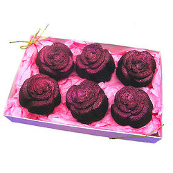 Rose Shaped Brownie Cakes