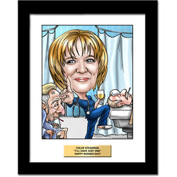 Fully Custom Nurse Caricature Artwork