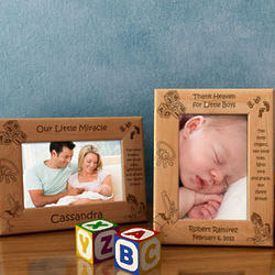 Personalized Ten Little Fingers & Ten Little Toes Wooden Picture