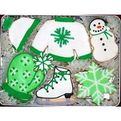 Winter Wonderland Hand Decorated Cookie Gift Tin
