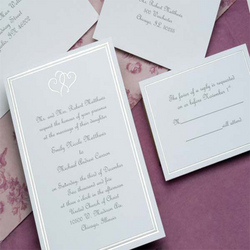 Platinum Hearts Invitation Kit