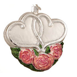 Entwined Hearts Silver Anniversary Ornament