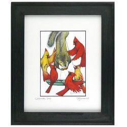 Cardinal Sin Framed Wildlife Print