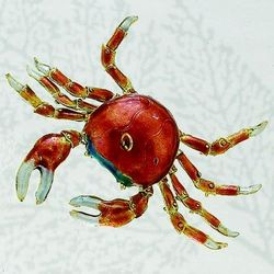 Articulated Crab Cloisonne Ornament