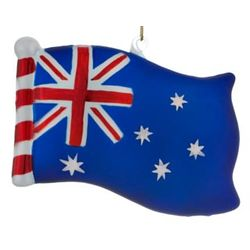 Australia Flag Personalized Christmas Ornament