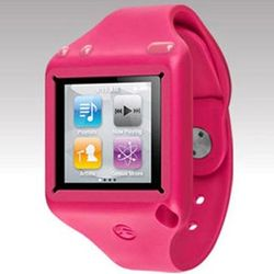Pink iPod Nano 6 Ticker Silicone Wrist Band