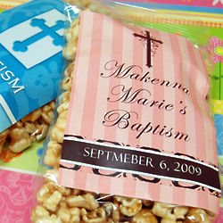 Personalized Religious Themed Caramel Corn Favors