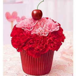 Cupcake in Bloom Flower Arrangement