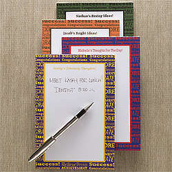 Graduate's Success Personalized Notepad