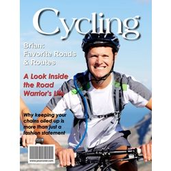 Personalized Cycling Digital Magazine Cover