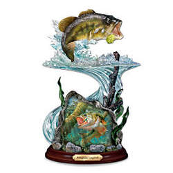 Kingsize Legend Largemouth Bass Sculpture