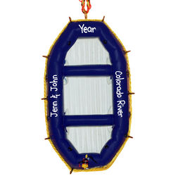 Inflatable Raft Personalized Ornament