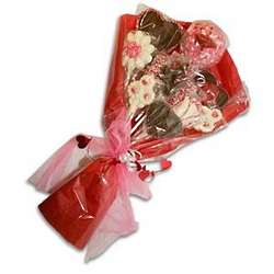 Valentine's Chocolate and Marshmallow Lollipop Bouquet