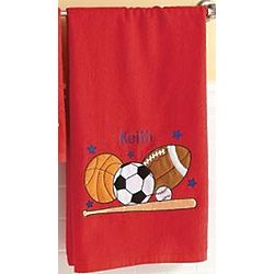 Personalized Applique Sports Bath Towel