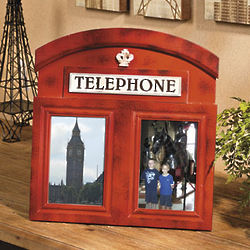 Red Telephone Booth Picture Frame
