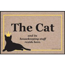The Cat and Its Housekeeping Staff Reside Here Doormat