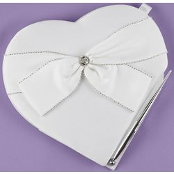 Sparkling Sash Wedding Guest Book and Pen Set
