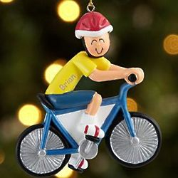 Male Bicycle Rider Personalized Ornament