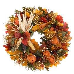 Pilgrims Greeting Thanksgiving Wreath
