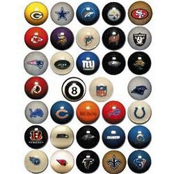 NFL Licensed Team Logo Billiard / Pool Ball