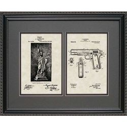 Statue of Liberty and Gun Right to Bear Arms Patent Print