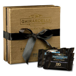 Dark Chocolate Collection Gold Gift Box
