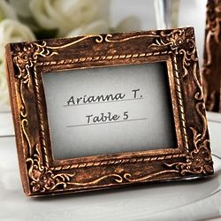Work of Art Antique-Finish Place Card Holder Photo Frame