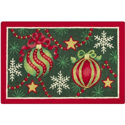 Festive Hooked Christmas Rug